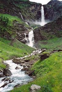 Waterfall and stream