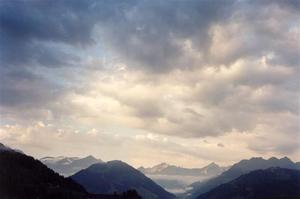 View of mountains around Gstaad
