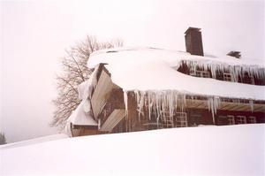 Haus Sonne in snow with icicles