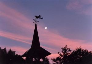 Klinik Zimmermann roof, sunset, moon