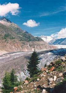 Aletsch Glacier - the largest glacier in the Alps