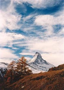 Wispy clouds over the Matterhorn