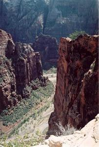'Angels Landing' ridge overlooking road at the bottom, Zion