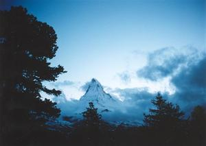 Clouds moving over the Matterhorn