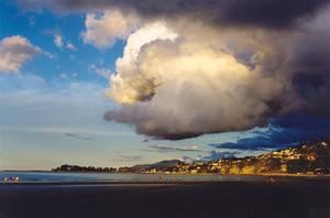 Swirling cloud over beach, Nzealand