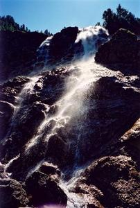 Close view of waterfall
