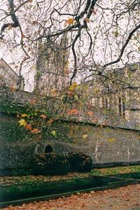 Winchester church and wall