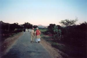 Friedrich walking with Krishnamurti