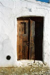 Old weather-worn barn door