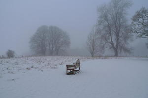 Brockwood bench in winter