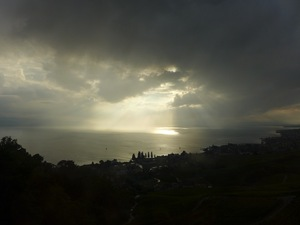From the train above Montreux