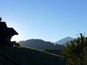 Walking from Rougemont to Saanen