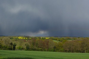 Stormy Hampshire Hills